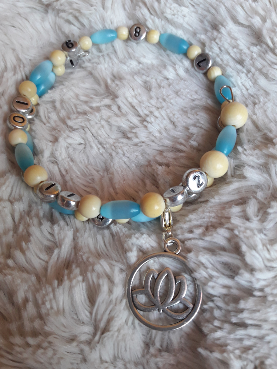 Bracelet beige lotus