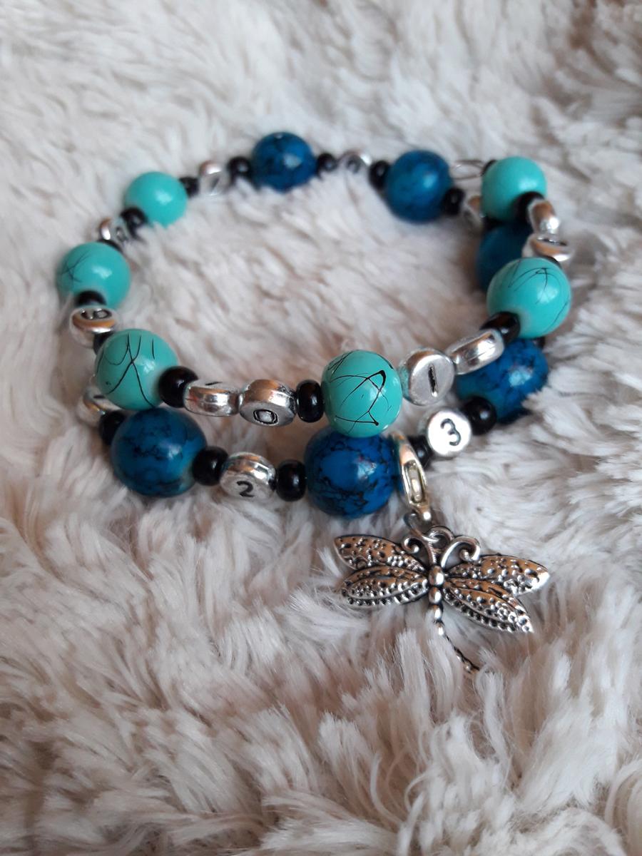 Bracelet bleu clair bleu nuit